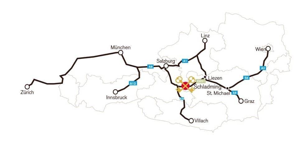 Anreisekarte Hoteldorf Pichlmayrgut
